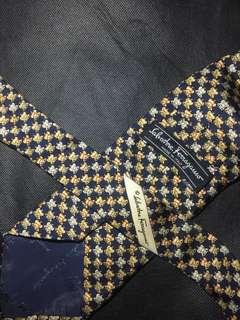 Authentic Salvatore Ferragamo Printed Necktie