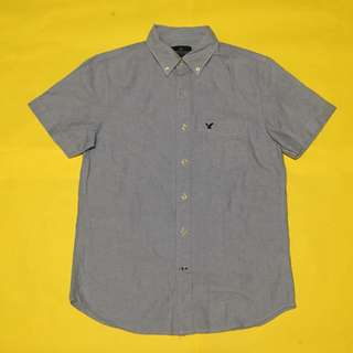 Light Blue Denim Inspired Button Down Polo