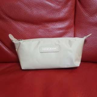 全新 Longchamp 杏色化妝袋 筆袋 雜物袋 cosmetic bag pencil case
