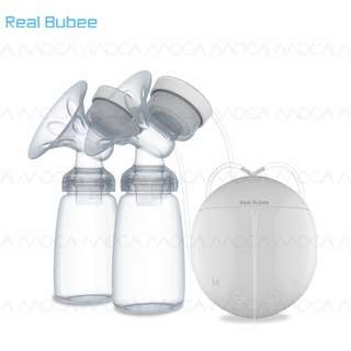 Real Bubee Breast Pump with milk bottles for mum
