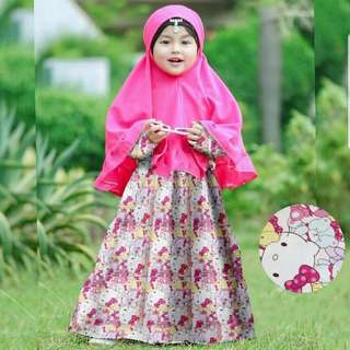 Syari kitty fashion muslim anak