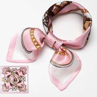 100% Silk 52*52cm scarf 真絲絲巾