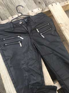 Black Coated Pants