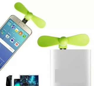 顏色隨機 安卓+USB二合一手機風扇