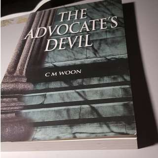 BOOK - THE ADVOCATE'S DEVIL cm woon singapore
