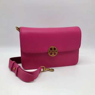 Tory Burch Chelsea Convertible Shoulder Bag - pink