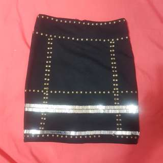 Tight Black Gold Skirt
