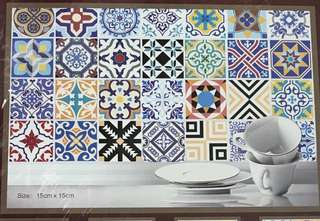 Moroccan Tiles Design Self Adhesive Sticker