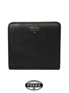 Fossil Sydney Leather Bifold Short Wallet (BLACK)