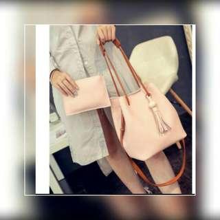 2 in 1 korean bag handbag shoulder leather