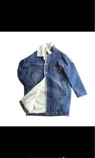 Denim Winter Coat Jacket