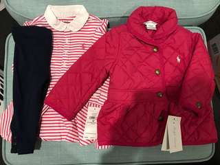 Ralph Lauren baby girls jacket and top brand new 9M