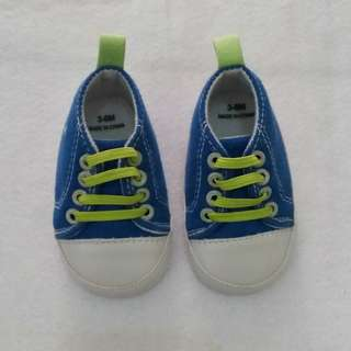 Baby Shoes Blue Green