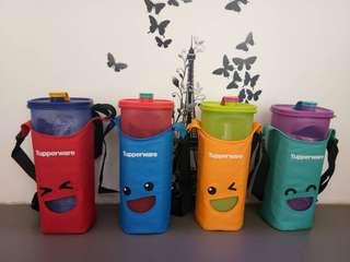 Smiley bottles tupperware