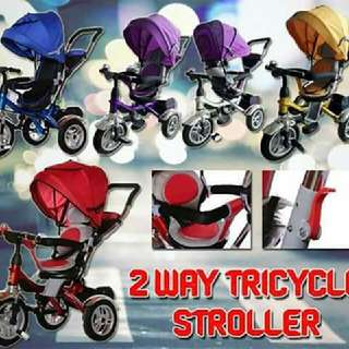 2 WAY TRICYCLE STROLLER