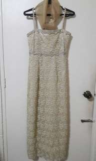 Corded Lace Formal Long Dress