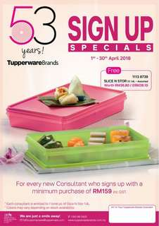 OFFER SIGN UP TUPPERWARE APRIL ONLY!!!!