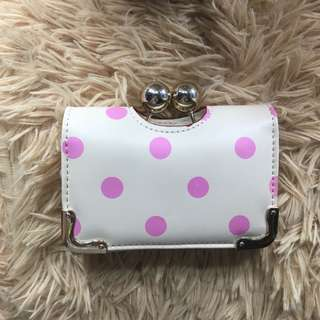 White Polka Dots Wallet from London