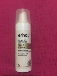 Erha21 truwhite activator night cream