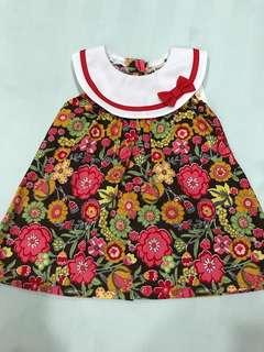 Dress Bunga Kombinasi