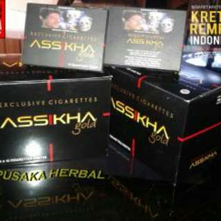 Rokok Herbal Kretek Rempah Assikha Gold