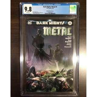 CGC 9.8 DC Dark Nights Metal #4 Francesco Mattina Variant Cover A