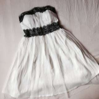 Tulle Eyelash Lace Dress