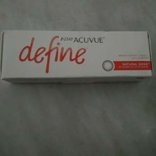 Contact lenses 1•DAY ACUVUE define