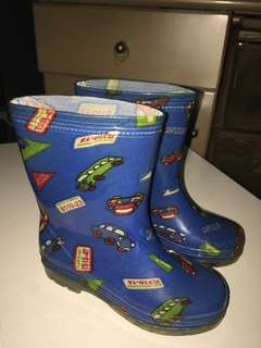 Boys Printed Rubber  Boots, Blue, Size 33