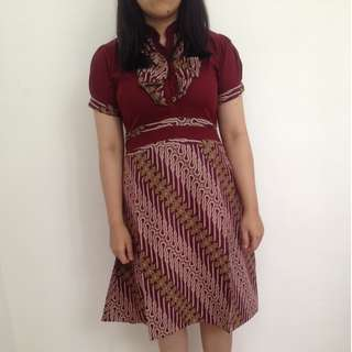 Dress Batik LIKE NEW