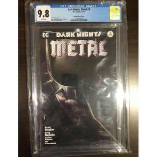 CGC 9.8 DC Dark Nights Metal #3 Francesco Mattina Variant