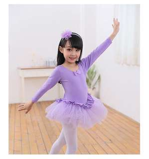 Purple ballet leotard/ tutu / dress/ cc crestar class 3 years old