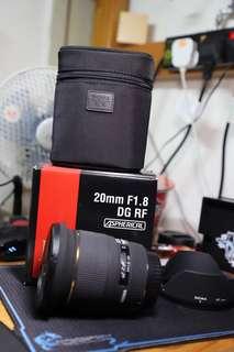 Sigma 20mm F1.8 DG RF Canon