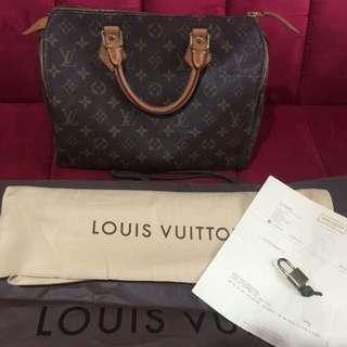 LV speedy preloved genuine bag