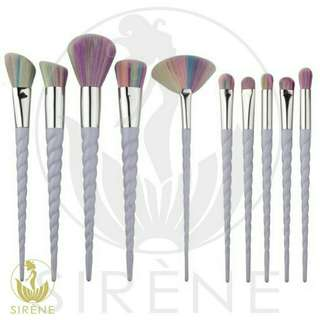 Makeup brush 10pcs Unicorn design