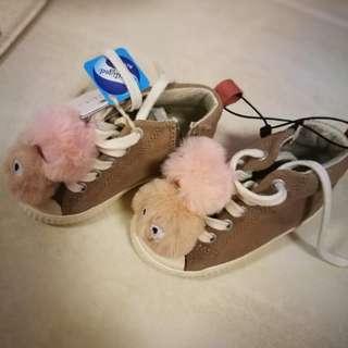 Zara shoes - high cut with pom pom
