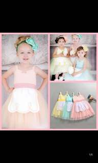 PO Princess Dress Brand New Size 80-140cm ideal for party/birthday wear