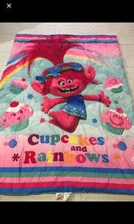 Instock authentic trolls kids blankets brand new ht 145cm wt 105cm