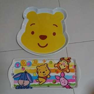 2 x Winnie the pooh serving trays (brand new!)