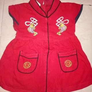 Dress merah anak ikan
