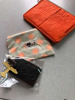 Card holder. Pouch. Luggage Tag