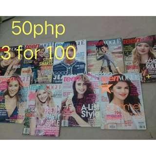 Teen Vogue Magazines