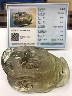 Smoky Citrine Three Legged Toad 茶黄晶三脚金蟾