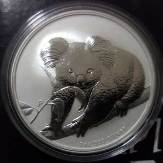 2010 Perth Mint Koala 1 oz silver coin