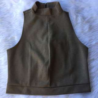 ZARA textured cropped top (when worn posted)