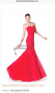 Its My party red evening Gown