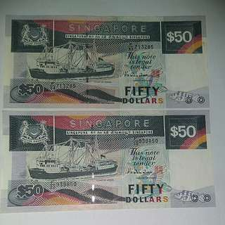 2 x $50 boat series note