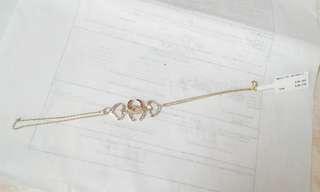 14k Chanel inspired two-tone bracelet