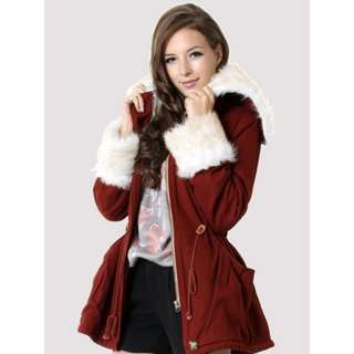 Chicwish Red Riding Hood Fur Coat Jacket Parka Forever New