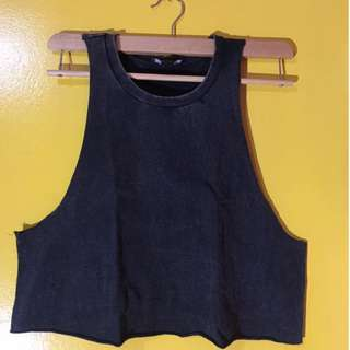 FOREVER 21 Crop Muscle Tee